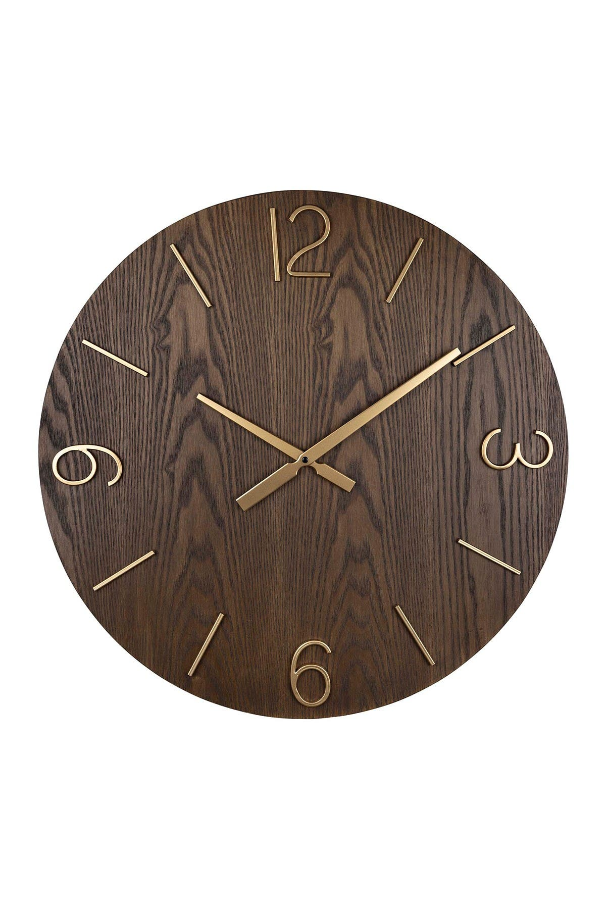 Image of Stratton Home Bennett Wood Wall Clock