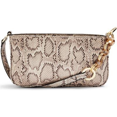 Topshop Spin Snake Print Shoulder Handbag -