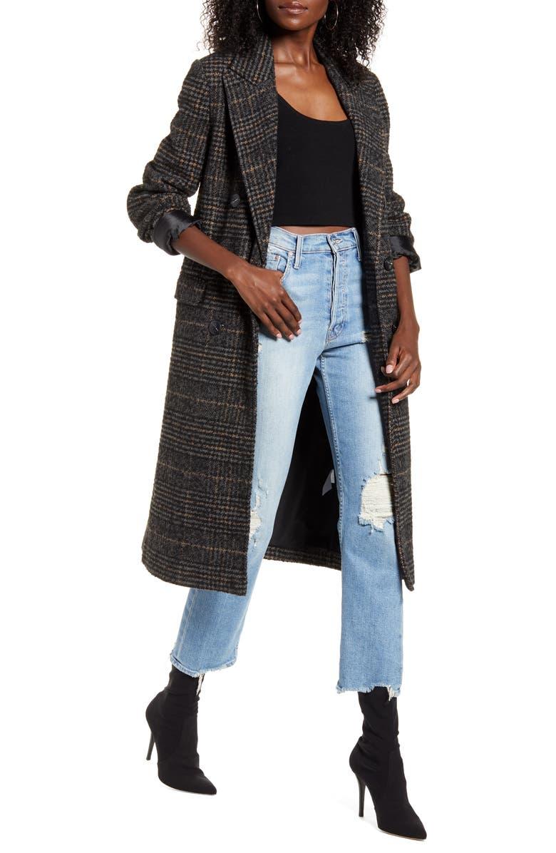 VERO MODA Highland Plaid Long Jacket, Main, color, 212