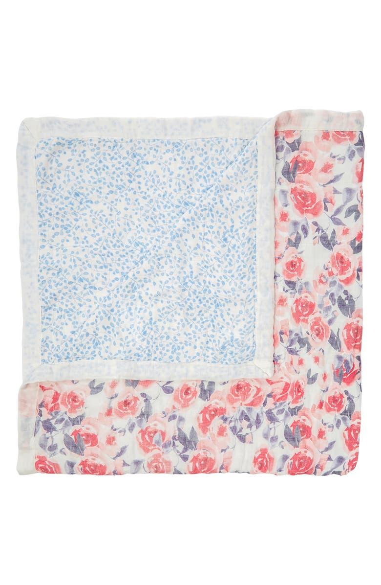 ADEN + ANAIS White Label Silky Soft Dream Blanket, Main, color, WATERCOLOR GARDEN