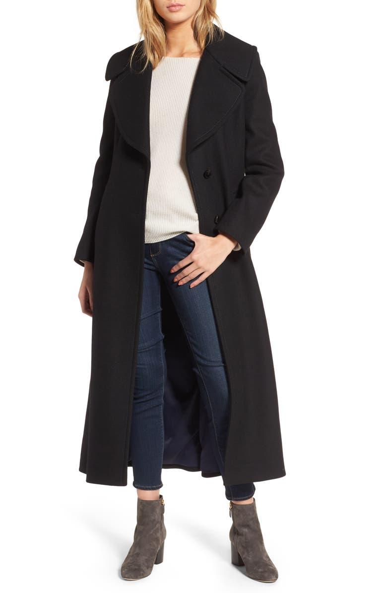 DIANE VON FURSTENBERG Maxi Coat, Main, color, 001