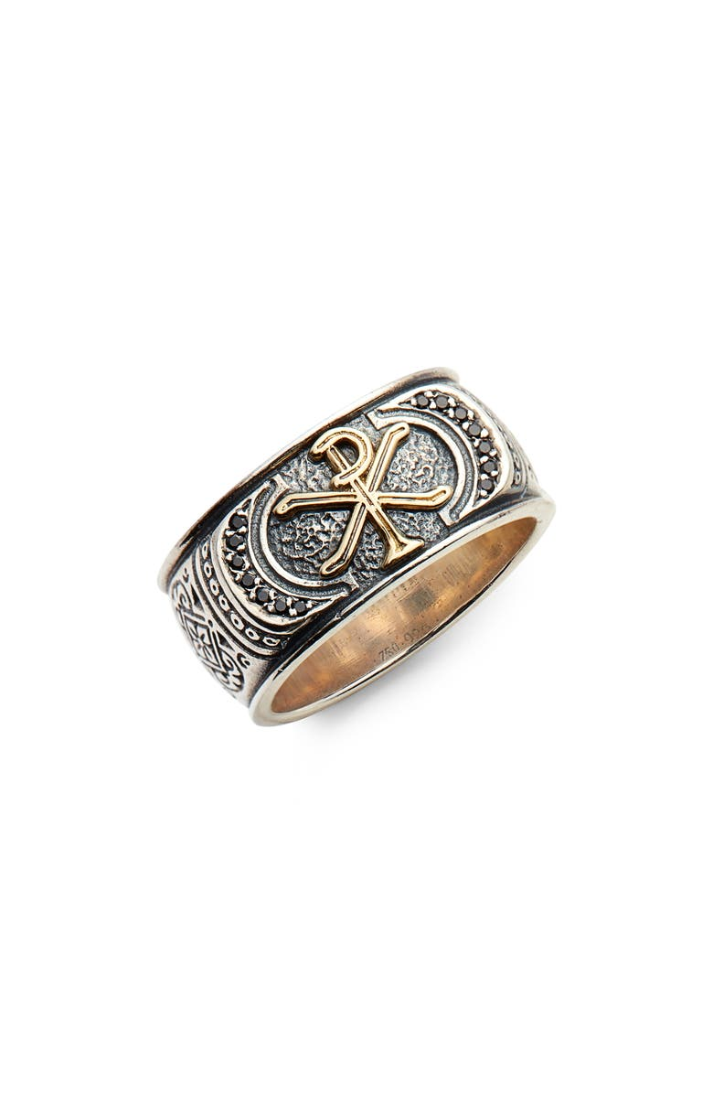 KONSTANTINO Stavros Spinel Signet Ring, Main, color, SILVER/ GOLD