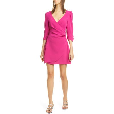 Cinq A Sept Theo Surplice Minidress, Pink
