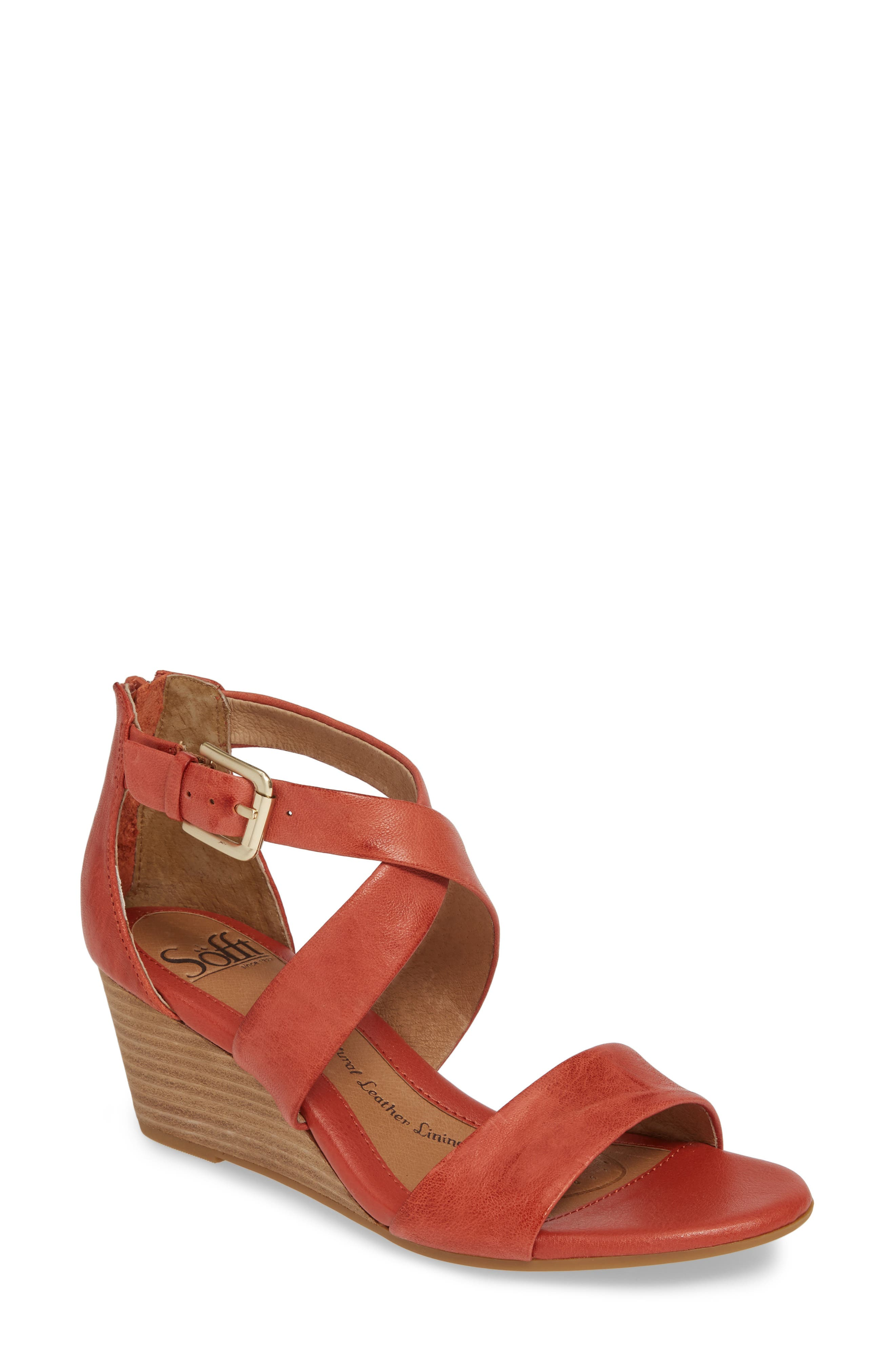 Sofft Mauldin Wedge Sandal, Red