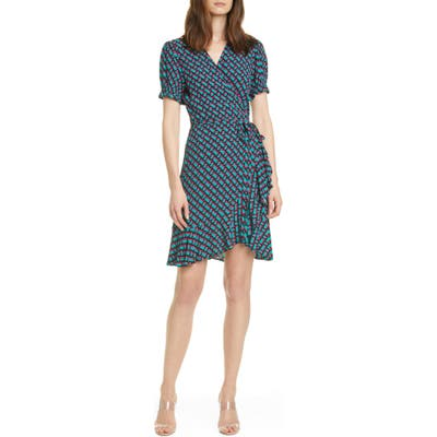 Dvf Emilia Floral Short Sleeve Wrap Dress