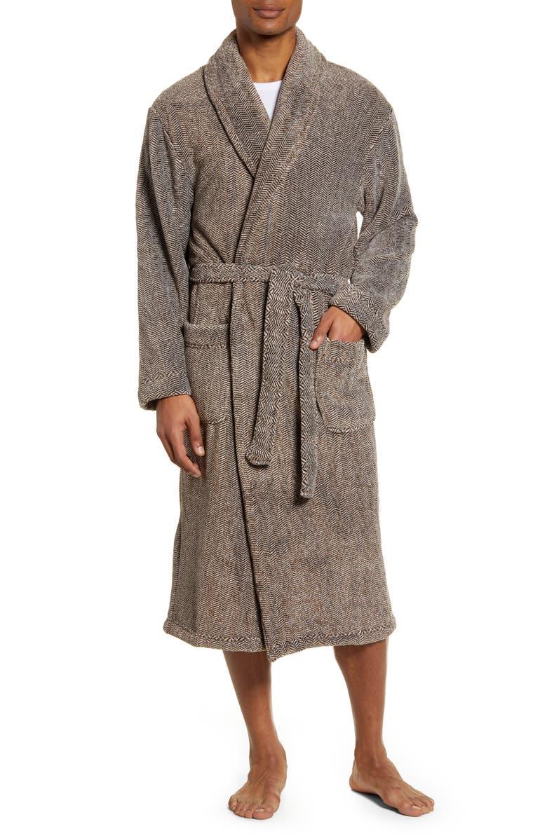 MAJESTIC INTERNATIONAL Mega Metro Plush Robe, Main, color, COFFEE