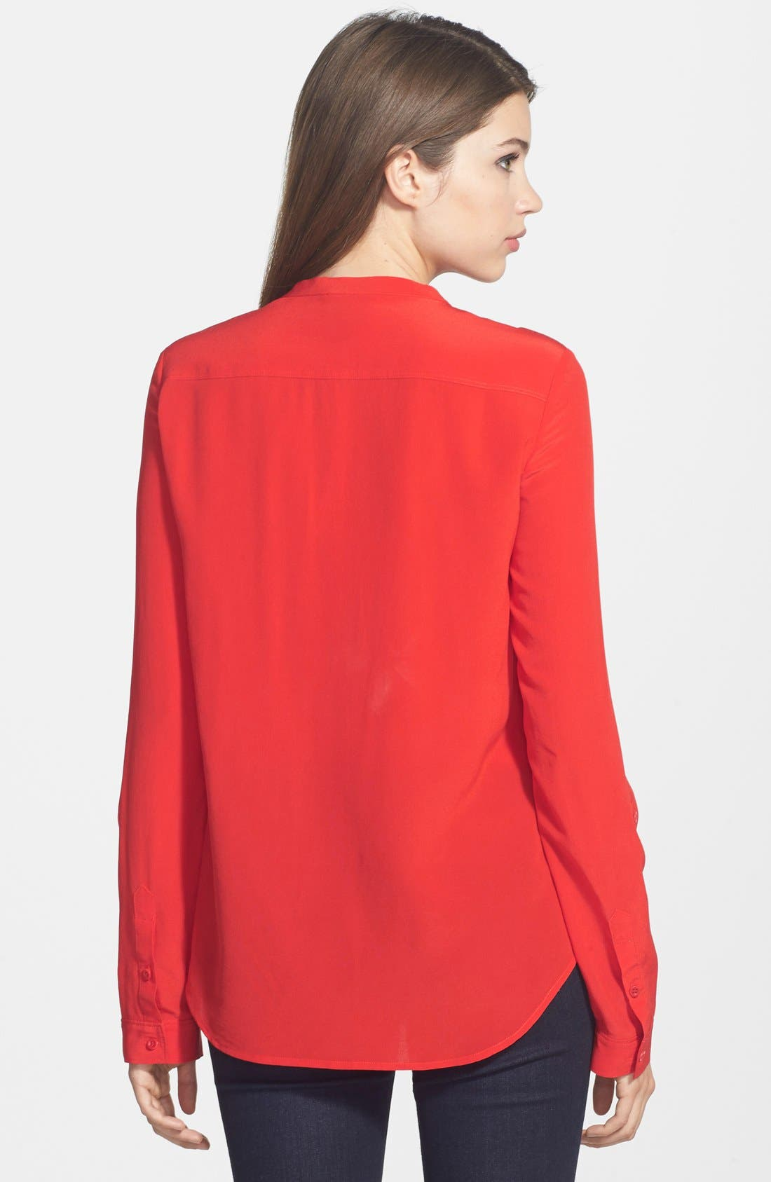,                             Collarless Silk Blouse,                             Alternate thumbnail 70, color,                             611