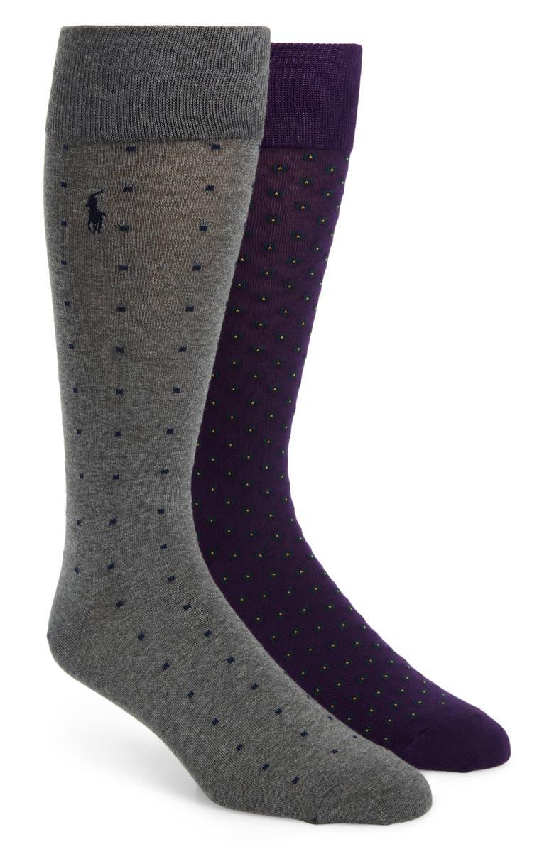 POLO RALPH LAUREN 2-Pack Cotton Blend Socks, Main, color, 930