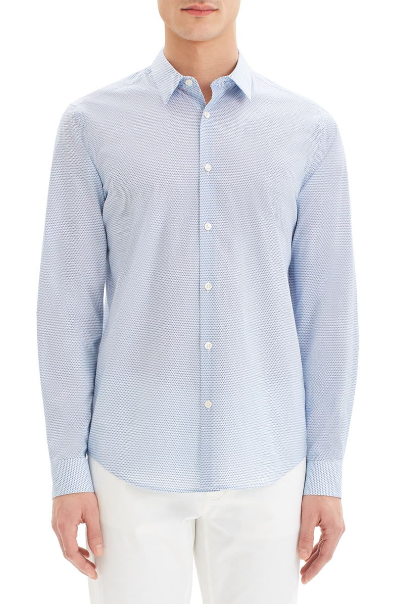 THEORY Irving Mast Button-Up Shirt, Main, color, WAVE MULTI
