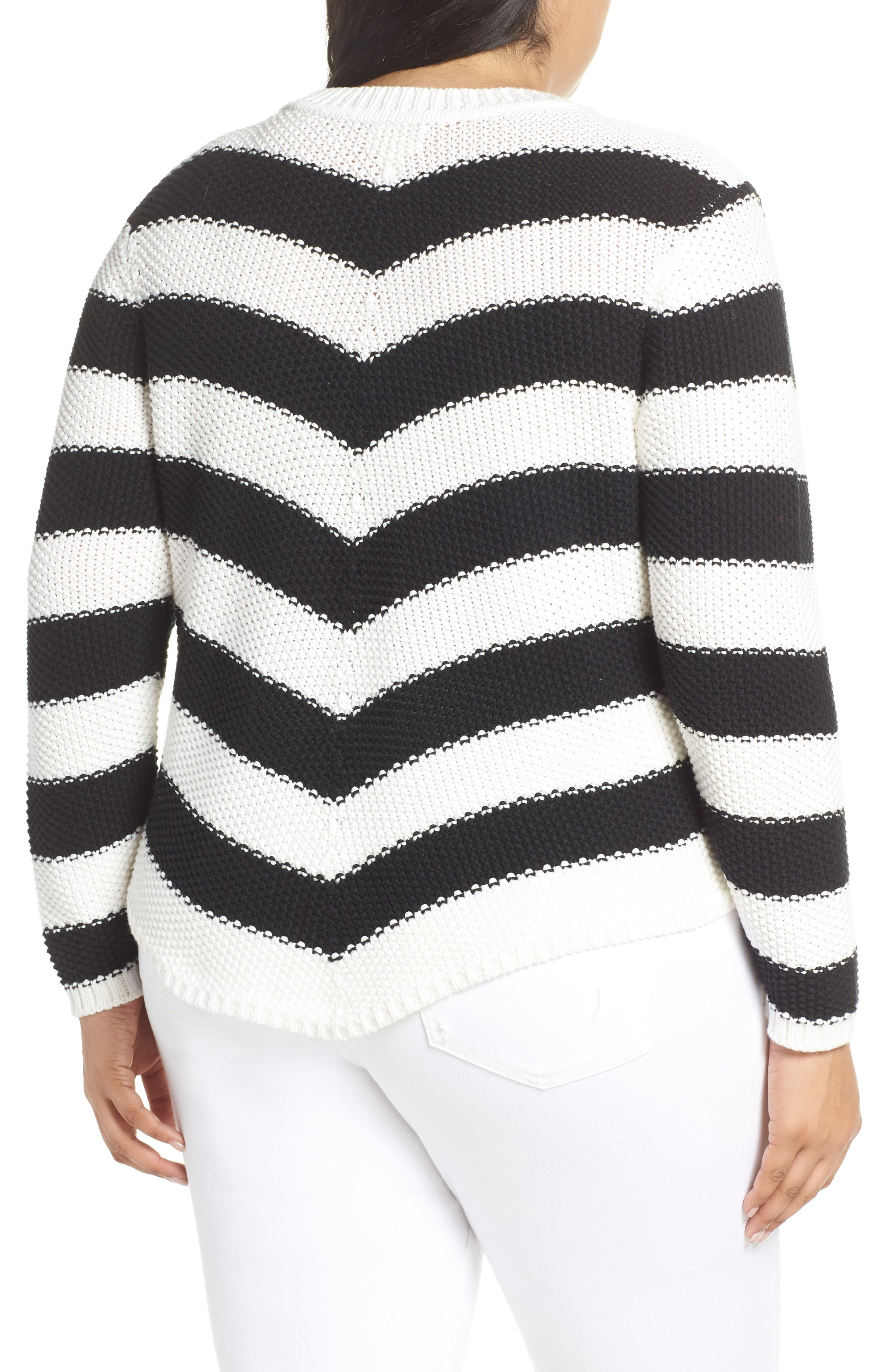 ,                             Stitch Stripe Sweater,                             Alternate thumbnail 2, color,                             001