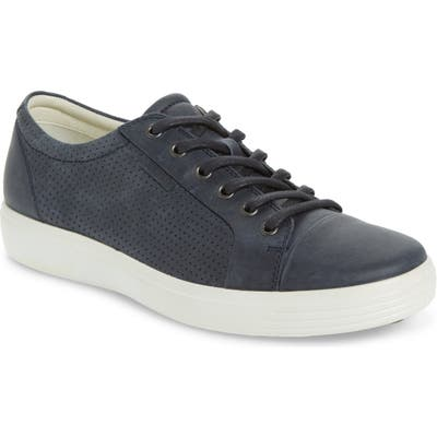 Ecco Soft Vii Lace-Up Sneaker,8.5 - Blue