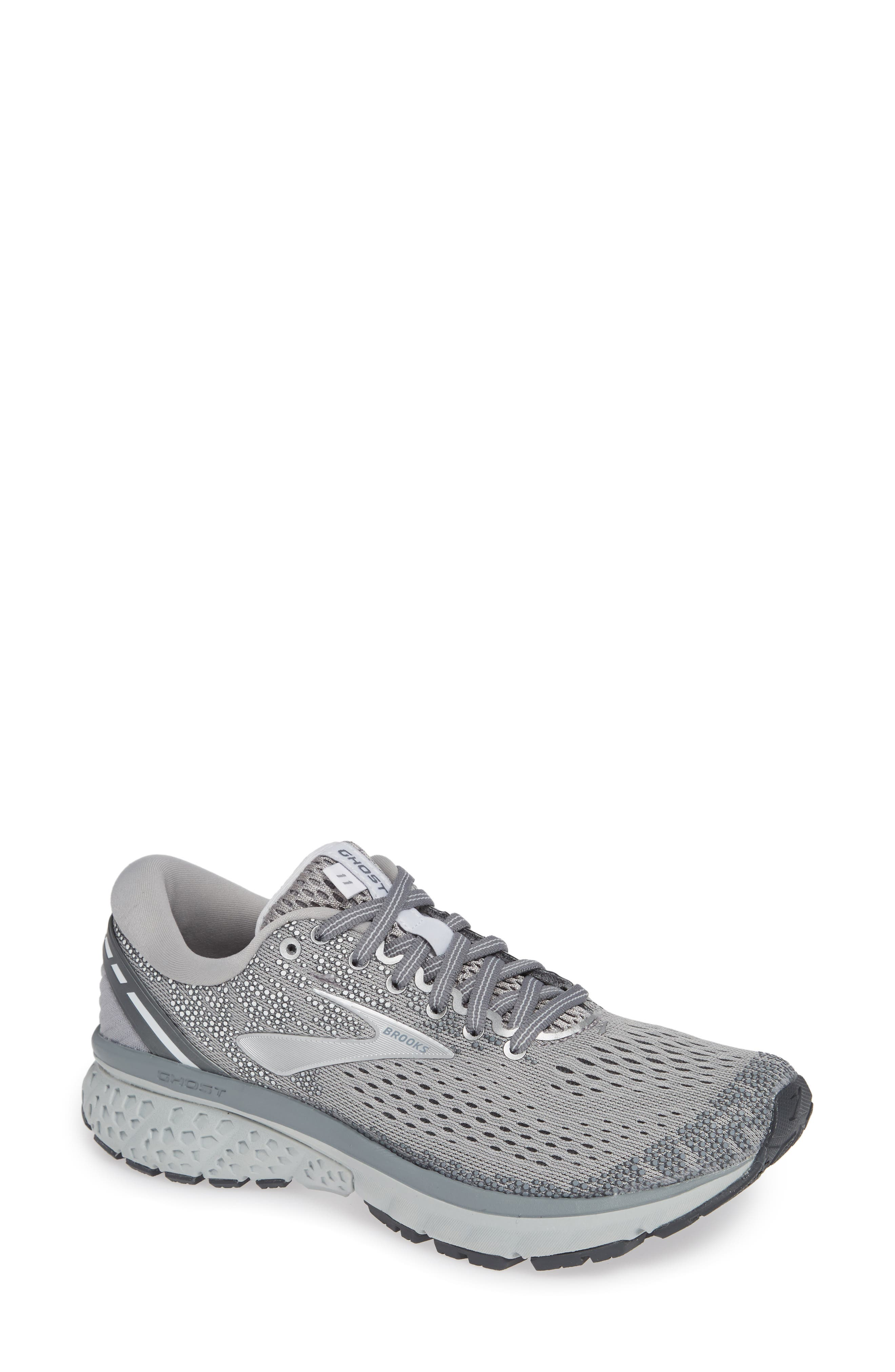 ,                             Ghost 11 Running Shoe,                             Main thumbnail 1, color,                             GREY/ SILVER/ WHITE