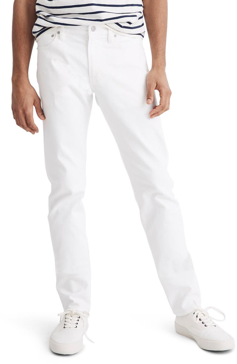MADEWELL Slim Fit Jeans, Main, color, TILE WHITE