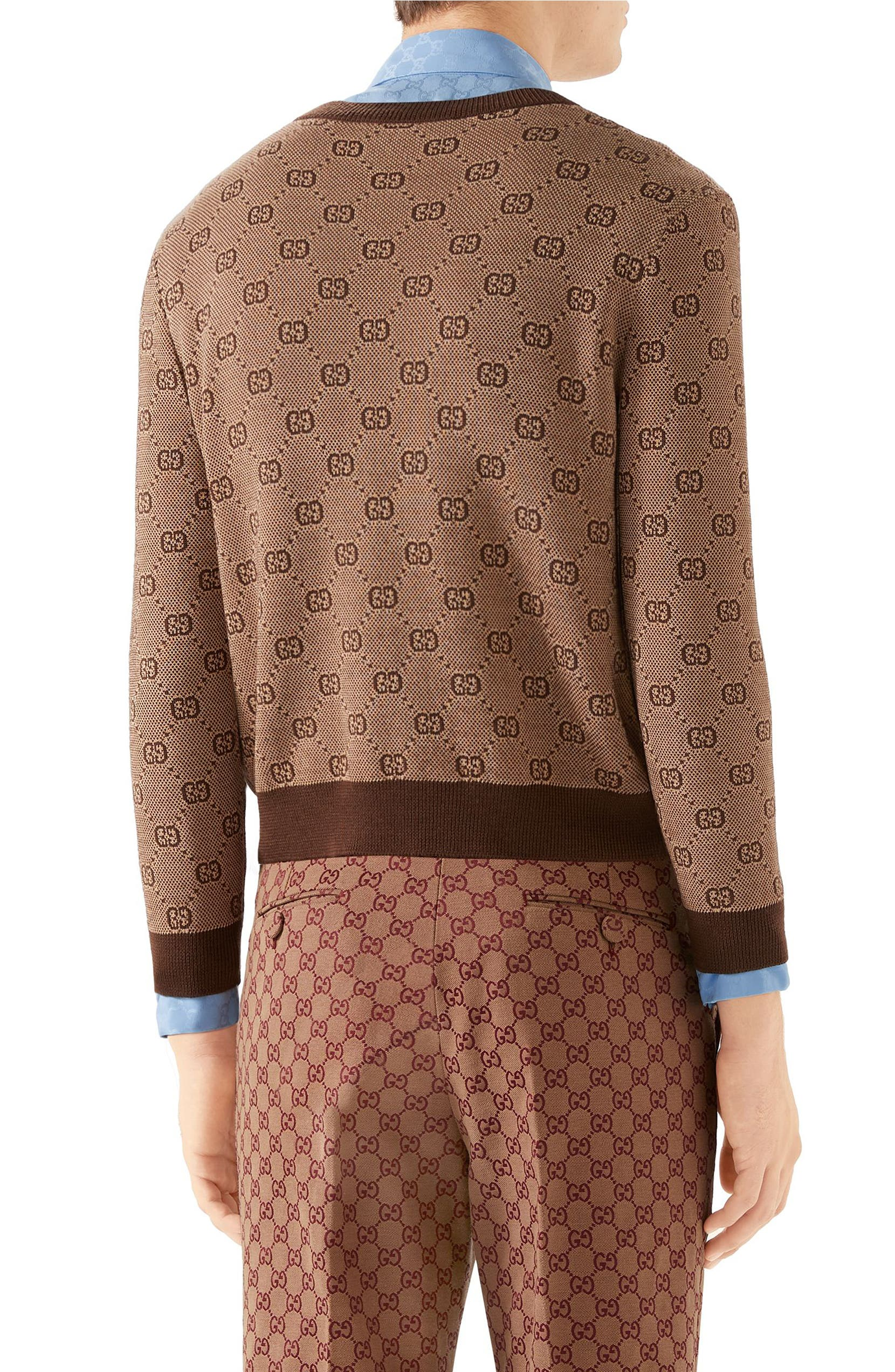 bf6079aa5 Gucci GG Jacquard Wool & Cotton Sweater | Nordstrom