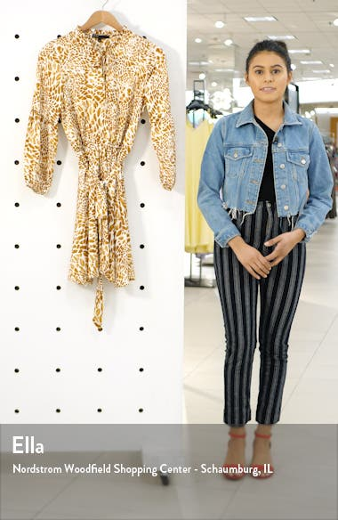 x City Safari Tara Gibson Tie Neck Satin Dress, sales video thumbnail