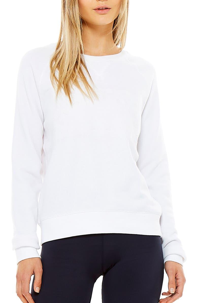 THE UPSIDE Horseshoe Bondi Crewneck Shirt, Main, color, 100