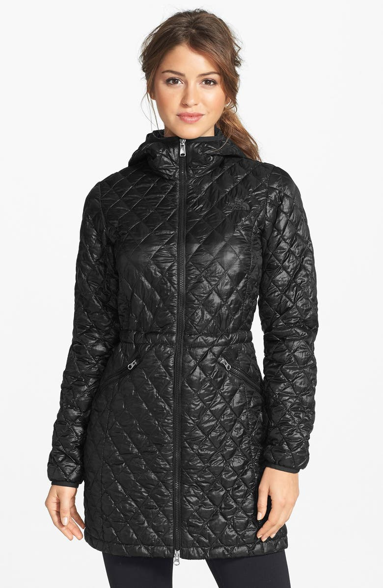 THE NORTH FACE 'ThermoBall<sup>™</sup>' PrimaLoft<sup>®</sup> Quilted Coat, Main, color, 001