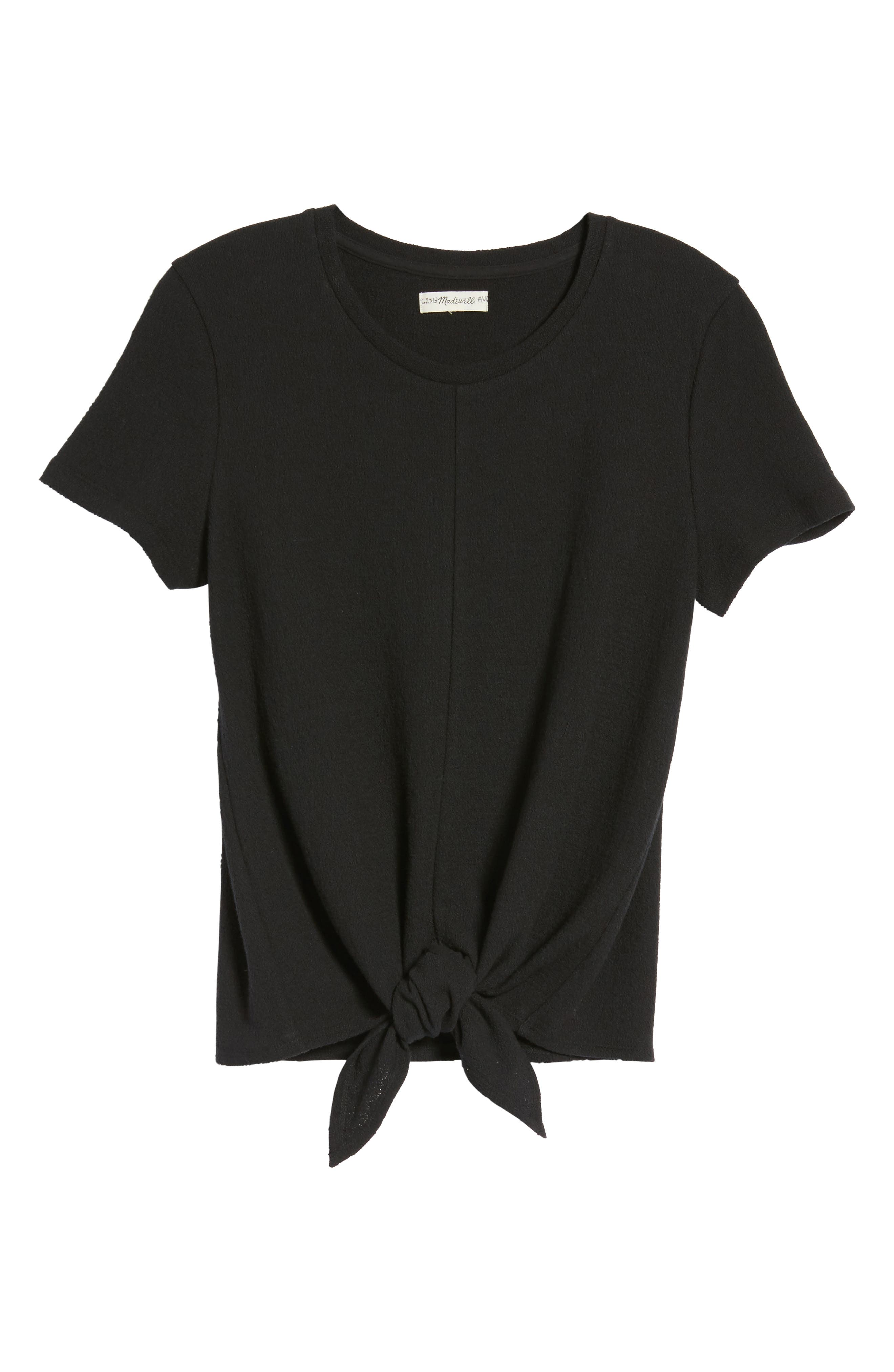 ,                             Modern Tie Front Tee,                             Alternate thumbnail 21, color,                             001
