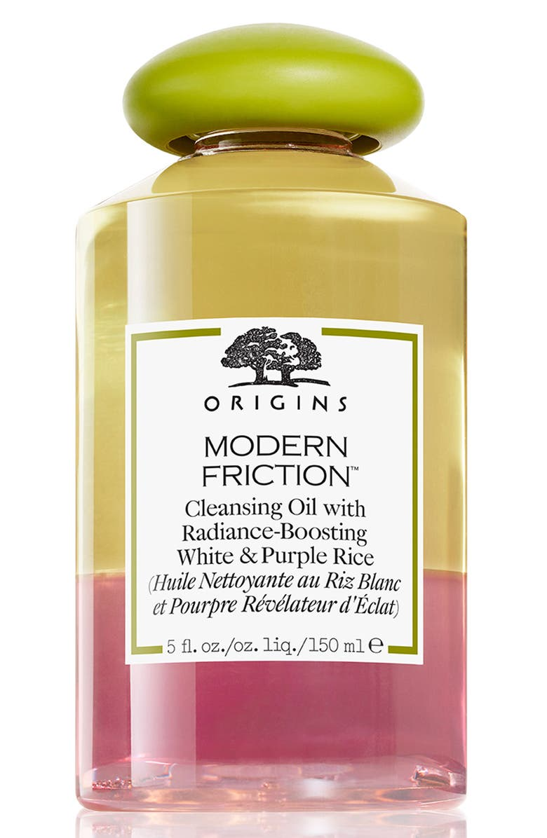 ORIGINS Modern Friction<sup>™</sup> Cleansing Oil with Radiance-Boosting White & Purple Rice, Main, color, NO COLOR