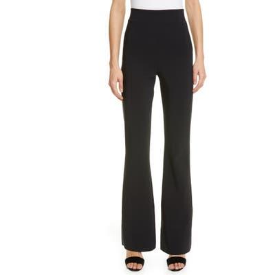 Chiara Boni La Petite Robe High Waist Flare Leg Pants, US / 46 IT - Black