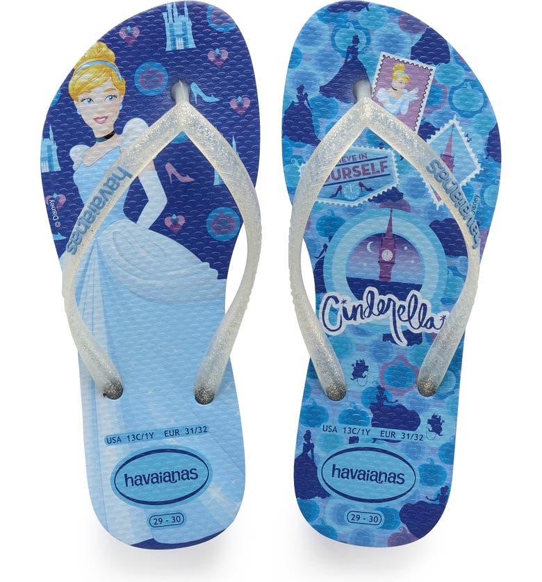 HAVAIANAS 'Disney Princess' Flip Flops, Main, color, BLUE STAR