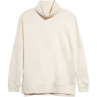 Madewell Turtleneck Tunic Sweatshirt, Ivory