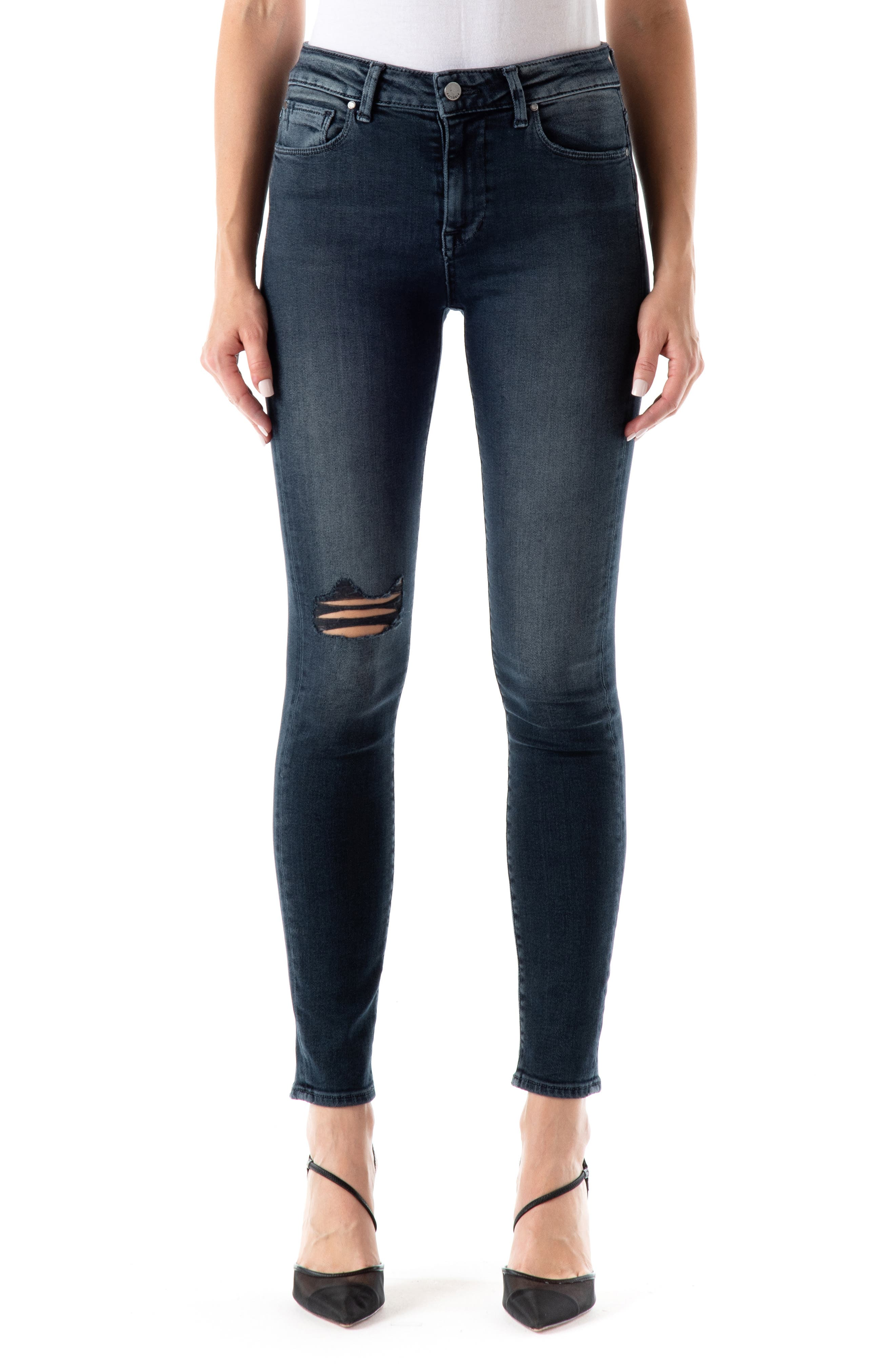 Gwen Ripped High Waist Skinny Jeans