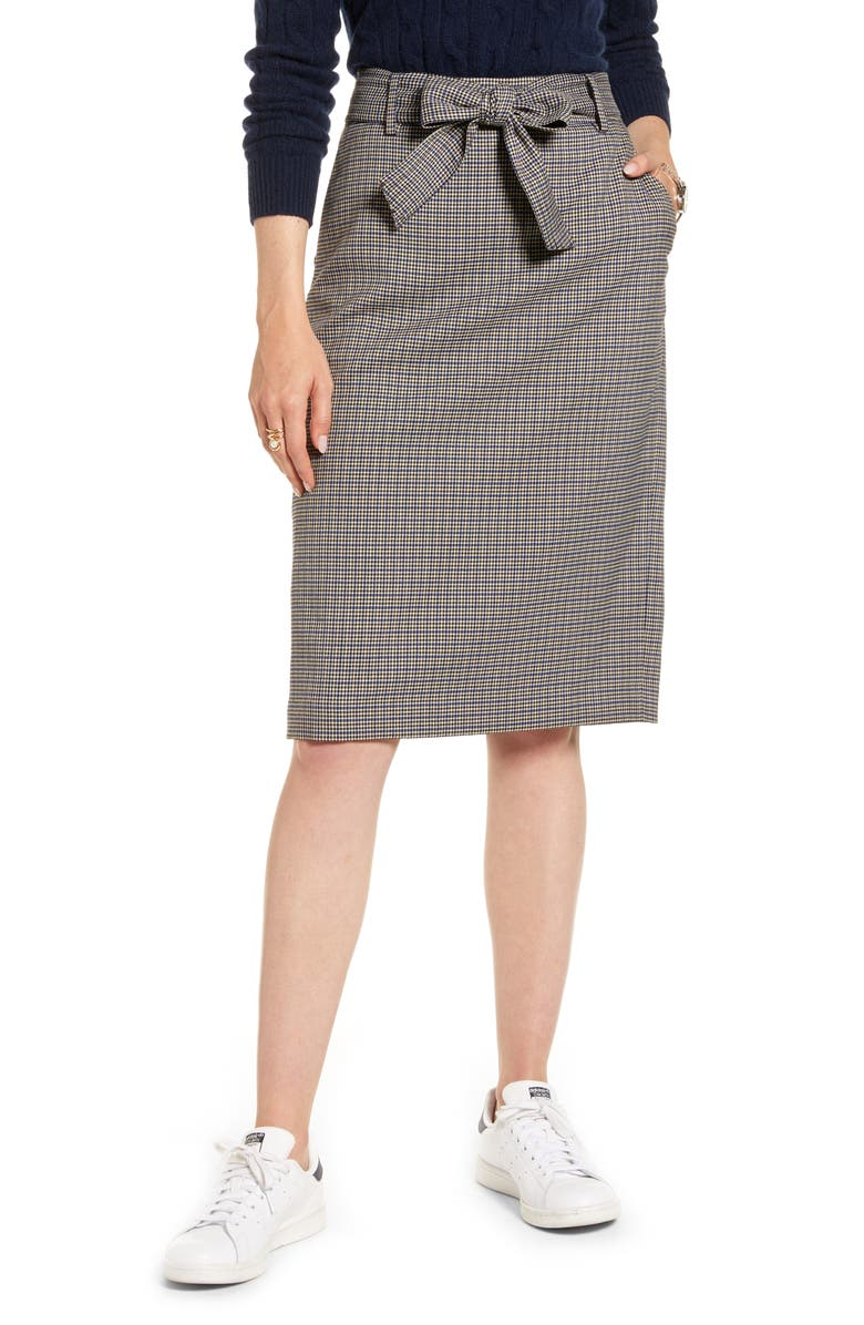 1901 Houndstooth Pencil Skirt, Main, color, 235