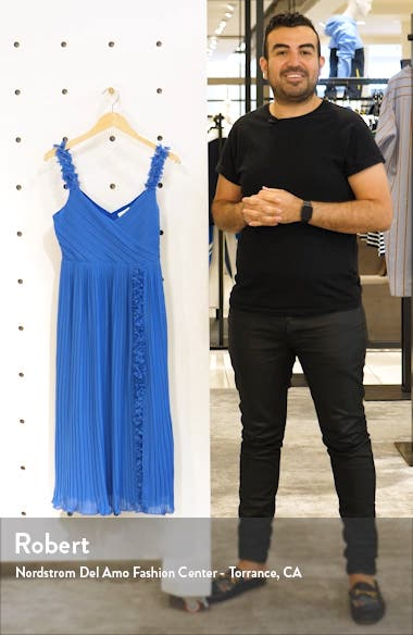 Pleated Front Slit Cocktail Dress, sales video thumbnail