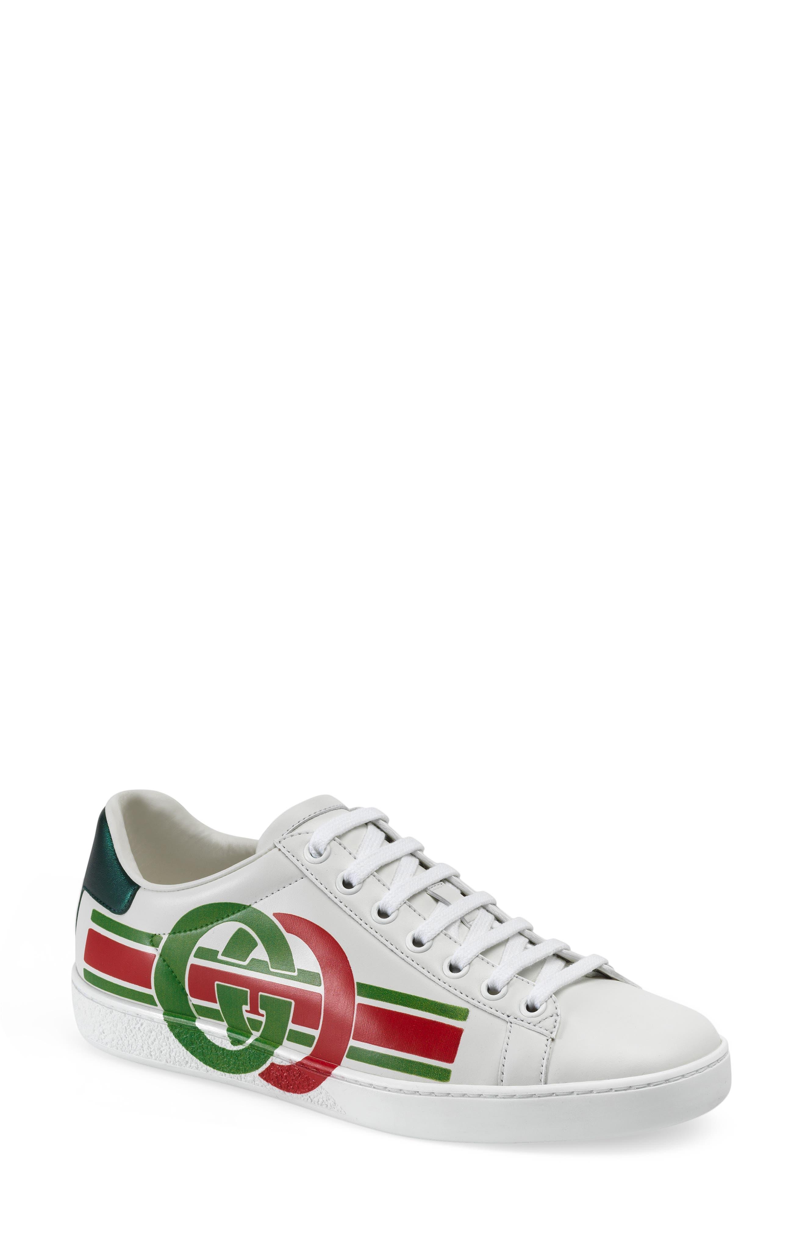 Gucci New Ace Logo Sneaker - White