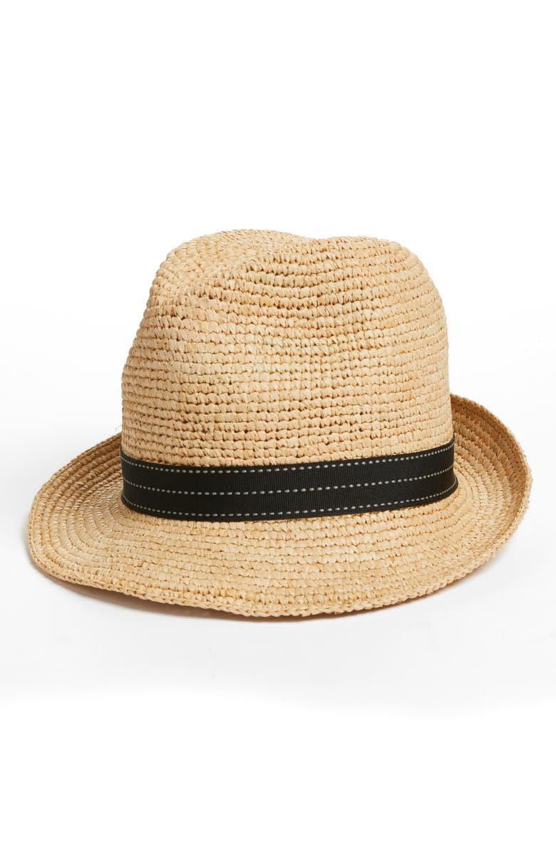 HALOGEN<SUP>®</SUP> Packable Panama Hat, Main, color, 001