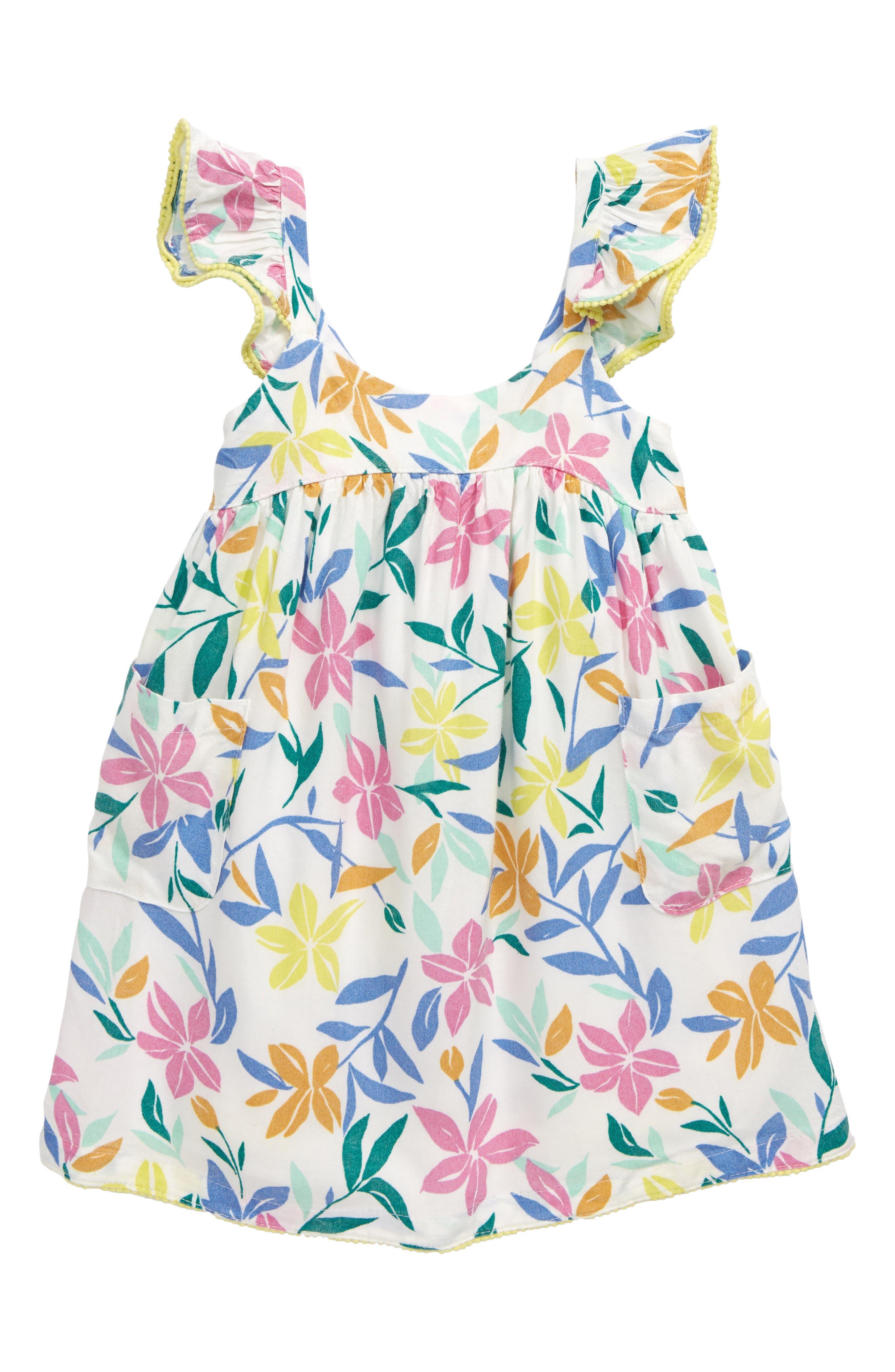 Image of PEEK ESSENTIALS Margot Floral Print Flutter Sleeve Dress