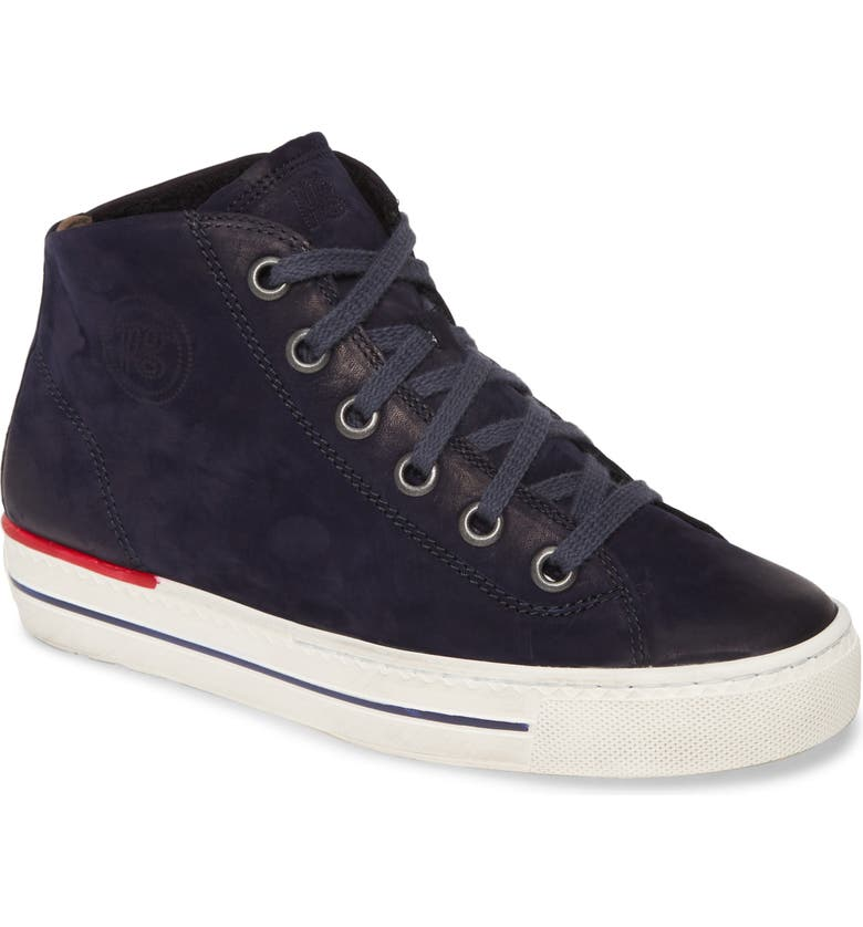 PAUL GREEN Calissa Sport High Top Sneaker, Main, color, SAPHIRE NUBUK