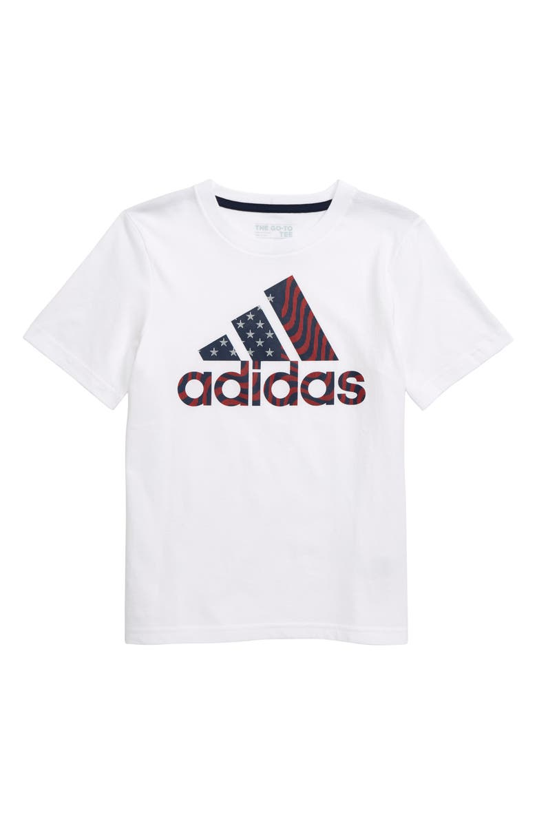 ADIDAS USA Graphic T-Shirt, Main, color, 100