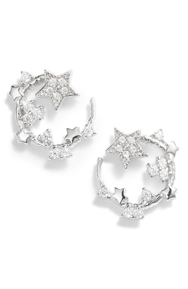 OLIVIA BURTON Celestial Swirl Stud Earrings, Main, color, SILVER