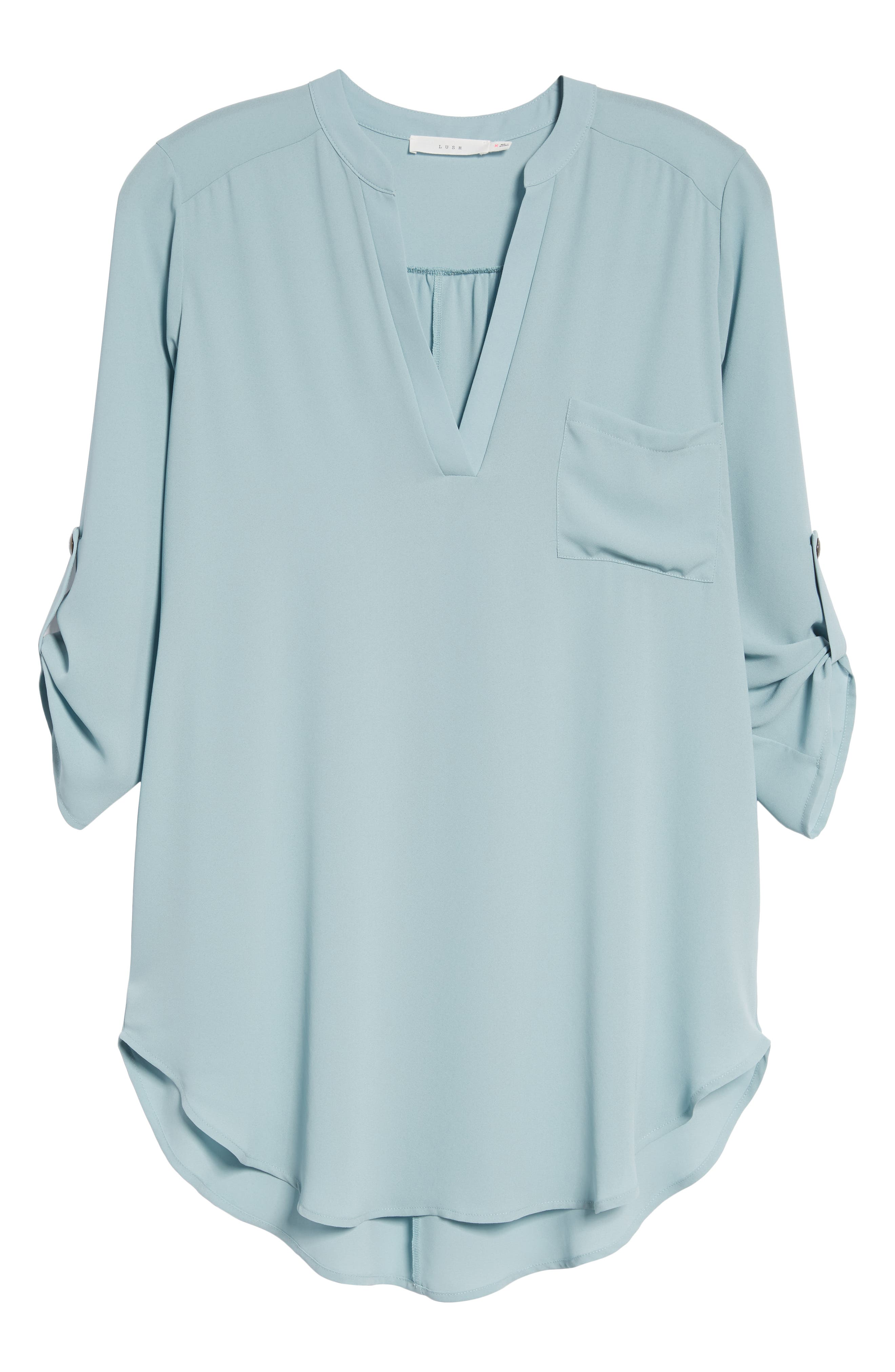 ,                             Perfect Roll Tab Sleeve Tunic,                             Alternate thumbnail 74, color,                             358