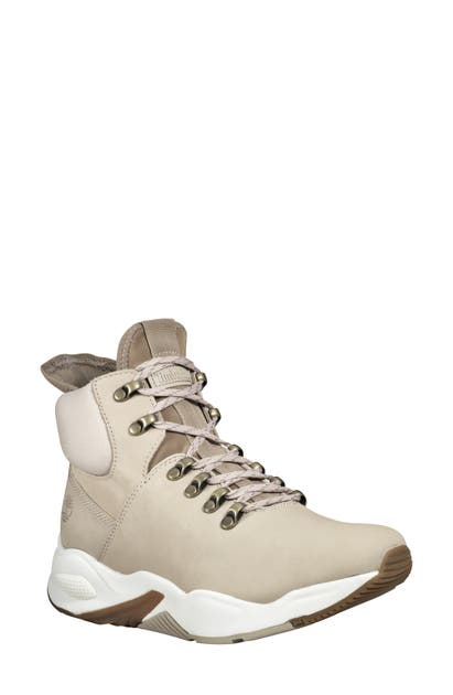 new arrival 4db84 5b57e Delphiville High Top Sneaker in Light Beige Nubuck Leather