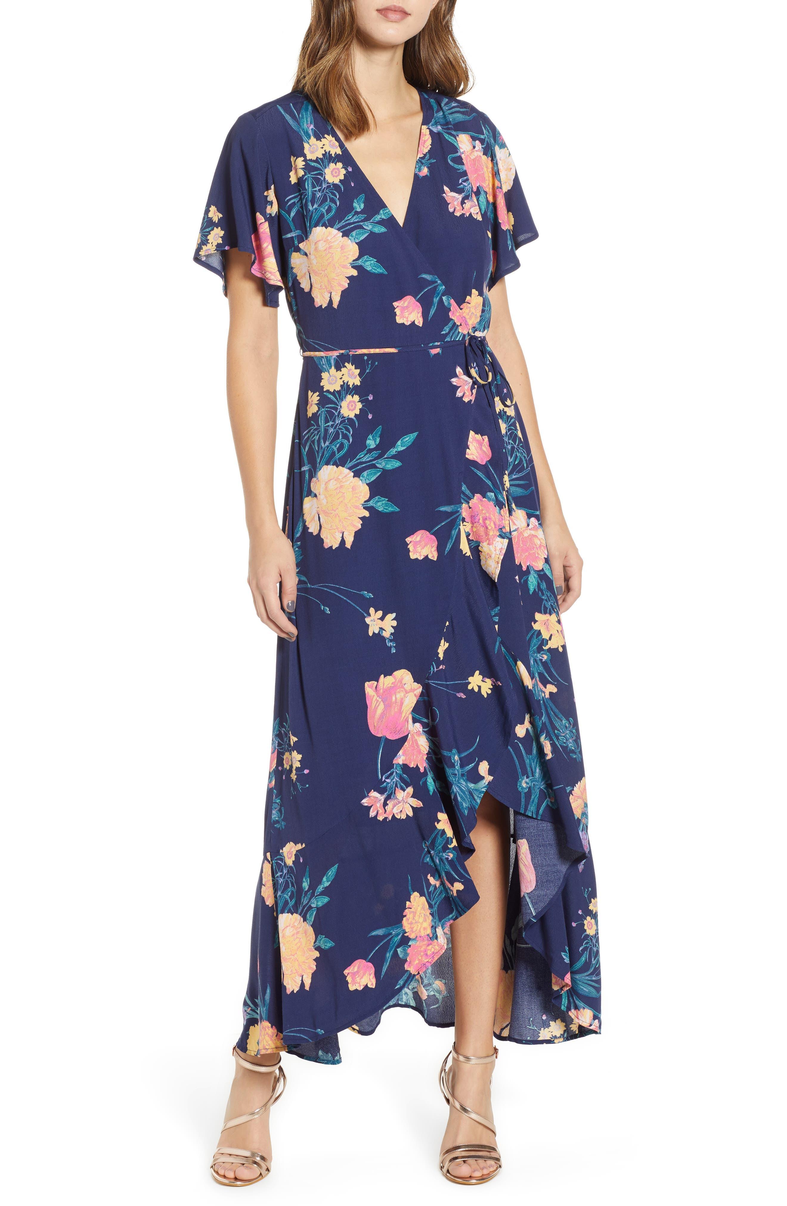 Long Languid Dress, Main, color, 410