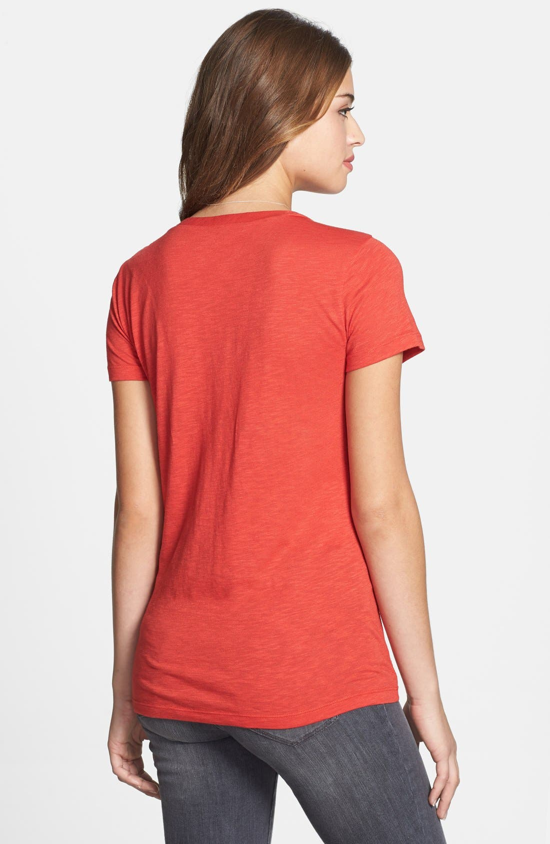 ,                             Relaxed Slub Knit U-Neck Tee,                             Main thumbnail 370, color,                             610