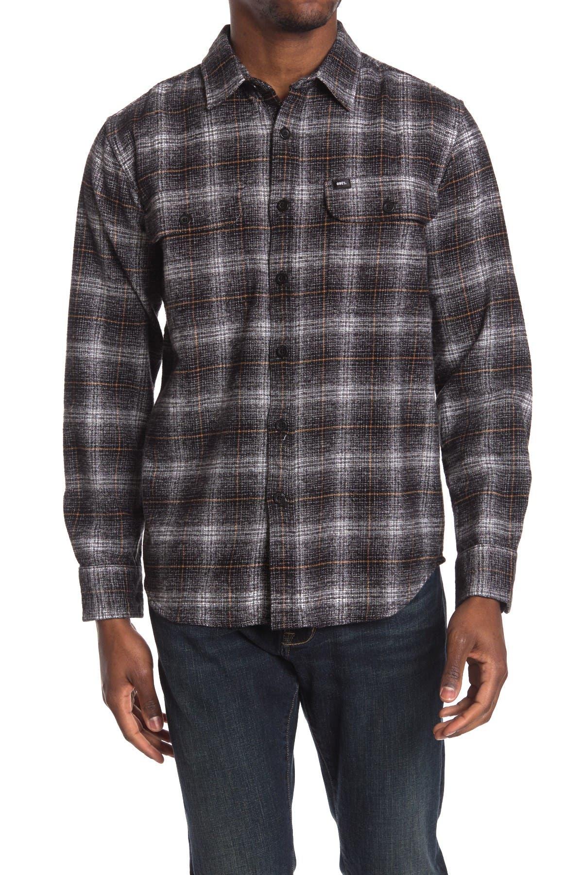 Image of Obey Shriner Woven Long Sleeve Regular Fit Shirt
