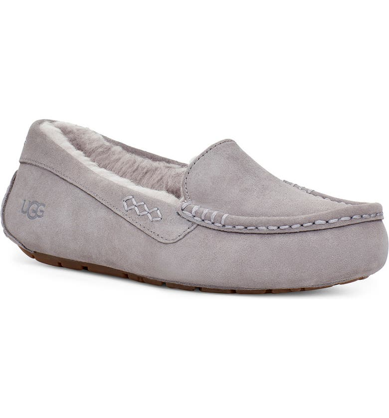 UGG<SUP>®</SUP> Ansley Water Resistant Slipper, Main, color, SOFT AMETHYST SUEDE