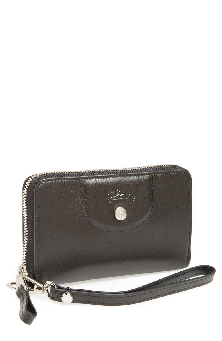 7488e67e7a Longchamp 'Le Pliage - Cuir' Zip Around Wallet   Nordstrom