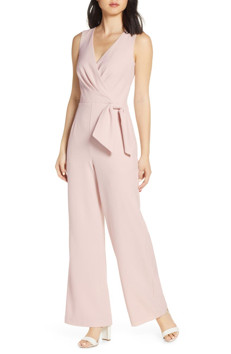 ELIZA J Faux Wrap Jumpsuit, Main, color, 684