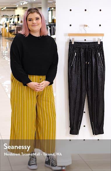 Faux Leather Drape Front Pants, sales video thumbnail