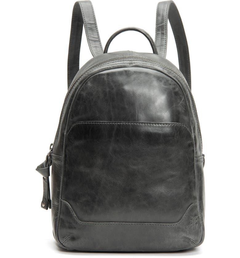 FRYE Medium Melissa Calfskin Leather Backpack, Main, color, 020