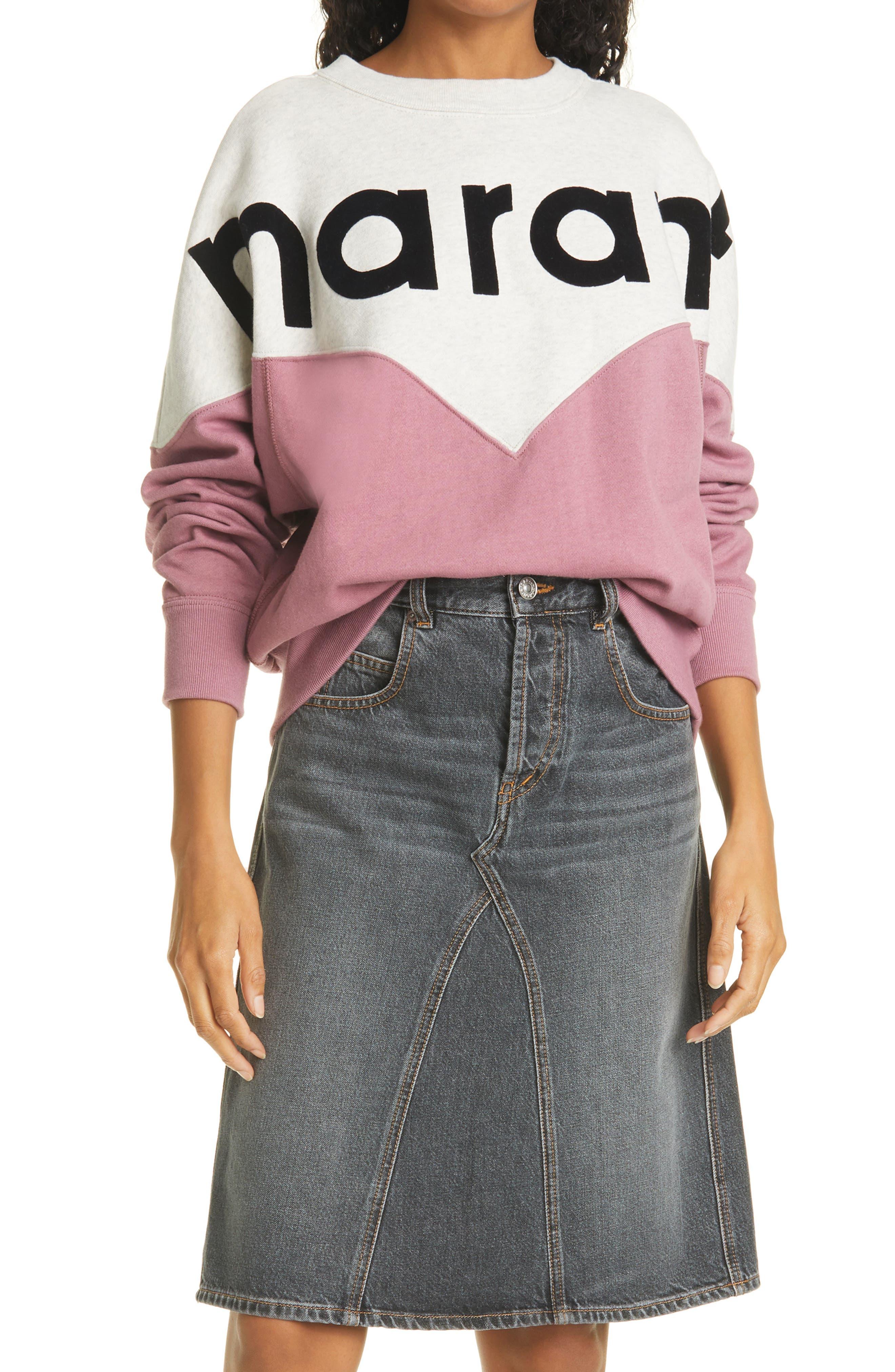 Women's Isabel Marant Etoile Houston Two-Tone Logo Sweatshirt