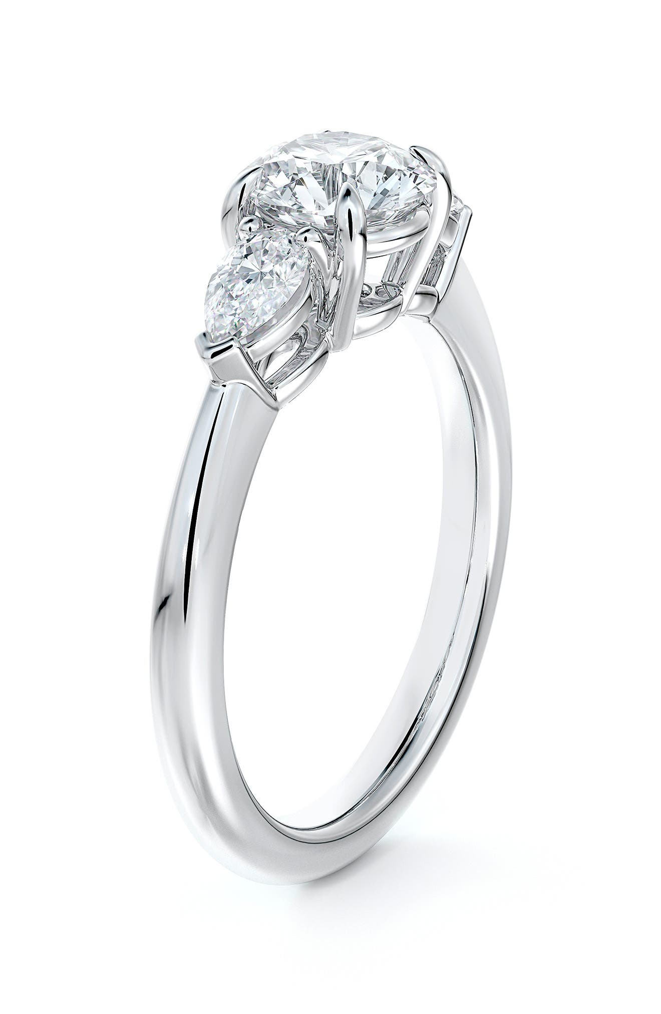 Accents(TM) Diamond Engagement Ring With Pear Sides