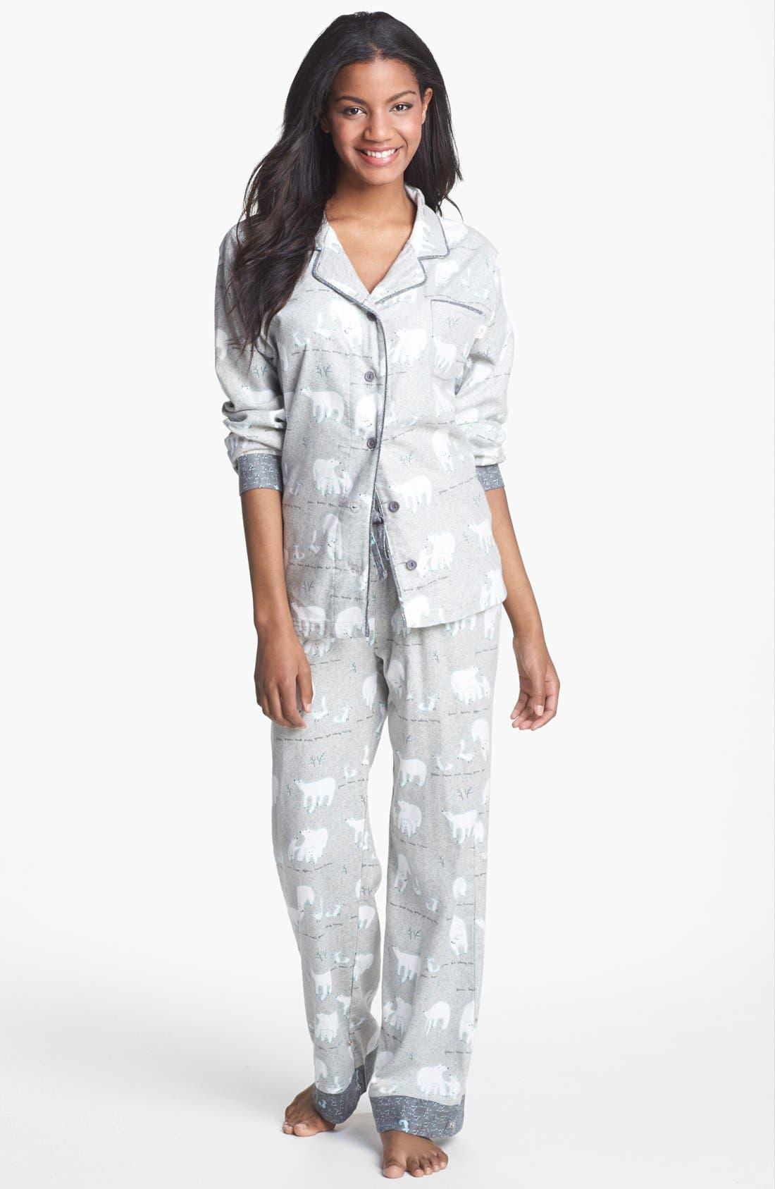 ,                             Flannel Pajamas,                             Main thumbnail 1, color,                             021
