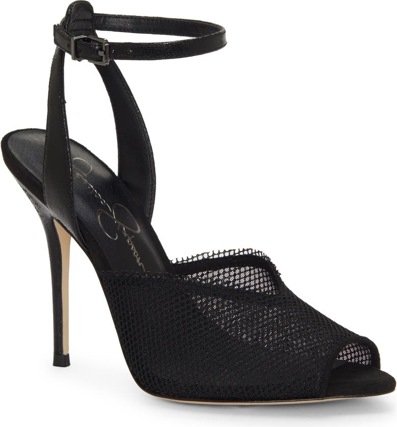 JESSICA SIMPSON Willren Sandal, Main, color, BLACK FABRIC