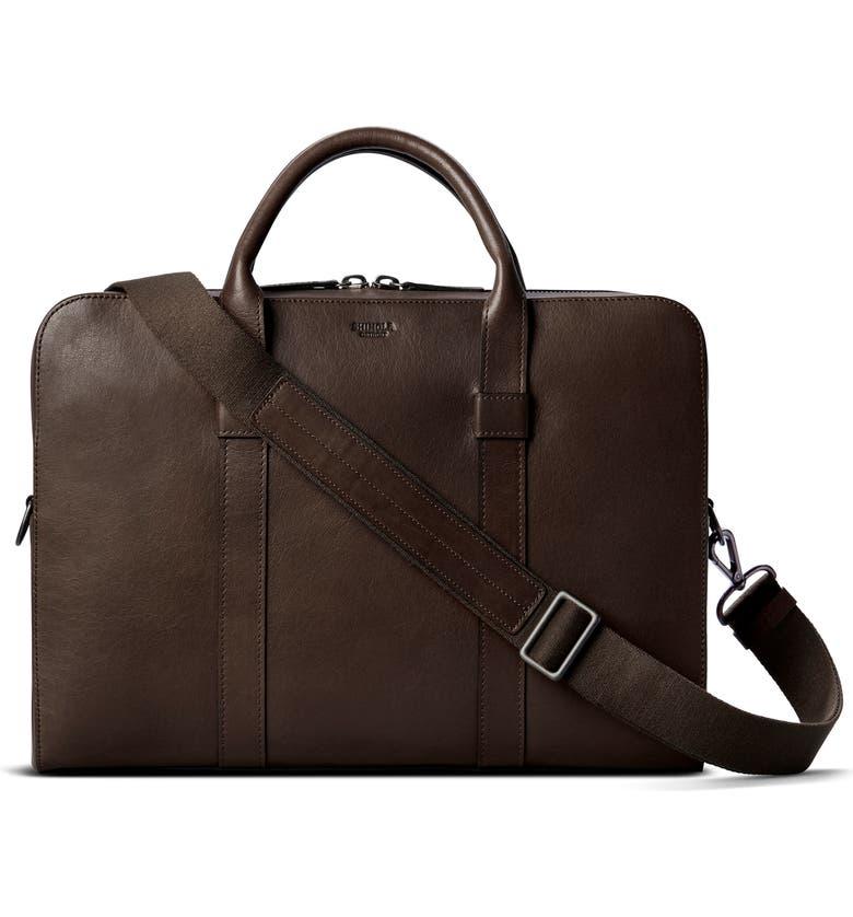SHINOLA Guardian Leather Briefcase, Main, color, MAHOGANY